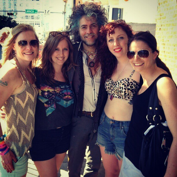 Just met the most beautiful man in the world @WayneCoyne @theflaminglips!! So happy #sxsw #theflaminglips #waynecoyne #gorgeous #Austin #love #mostbeautifulman #music