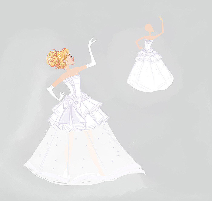 dausy:  sailor moon inspired wedding dress because this is what happens when you marathon Say Yes to the Dress. Also I always wondered why nobody cosplayed sailor moon using more wedding dress like pattern (but like mini skirt)..do like a drop waist with a corsette back and it'd be so much better than anything else on the internets.