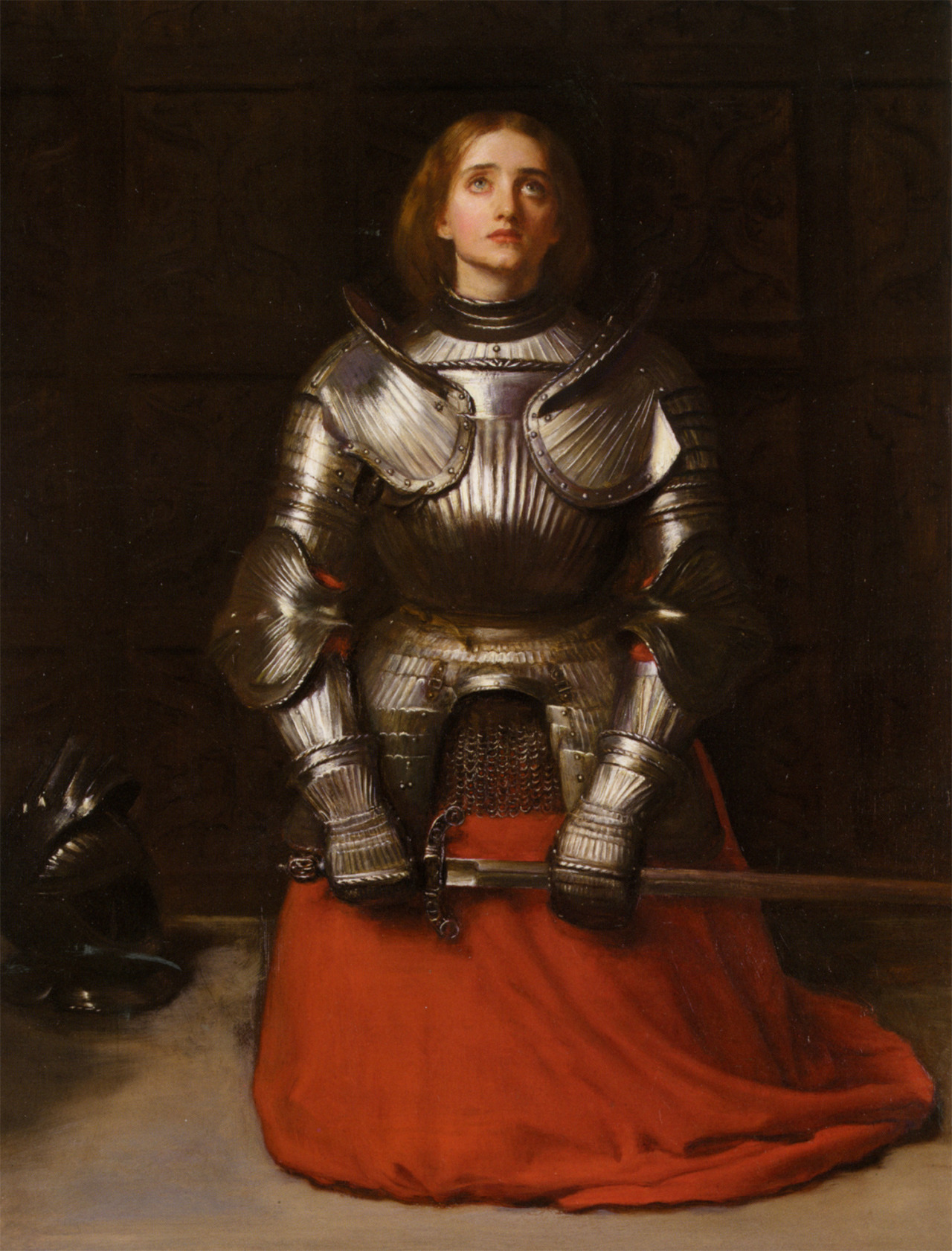 colourthysoul:  John Everett Millais - Joan of Arc (1865)