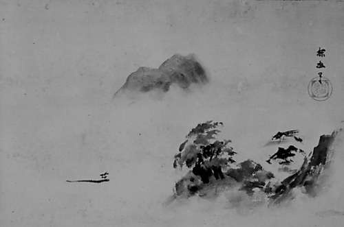 Misty Landscape Attributed to Kano Tan'yū