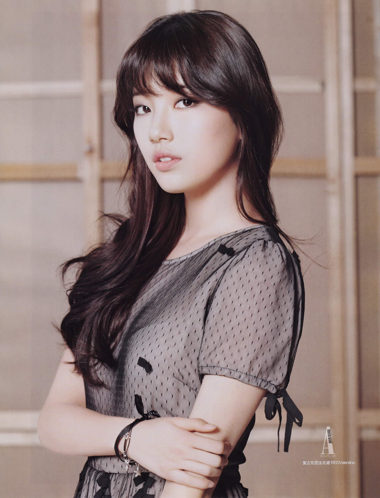 n3ssachan:  miss A suzy for ceci china, march issuescans by hammie @ missin'A do not edit and/or remove logo