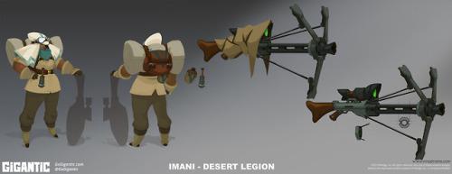 gigantic gogigantic motiga Imani HK-206 video games conceptart characterdesign t-mat robots