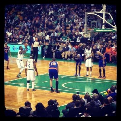 Watching the C's. Hate losing to the Knicks.