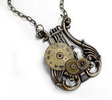 nikeleenike:  (со страницы Steampunk Necklace LYRE Pendant - Steampunk Jewelry by edmdesigns | edmdesigns - Jewelry on ArtFire)