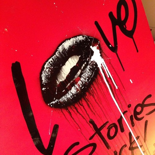 What's #LOVE got to do with it? #loveandlust #lovestoriessuck #tmnk #streetart #graffiti #art #urbanart #contemporaryart