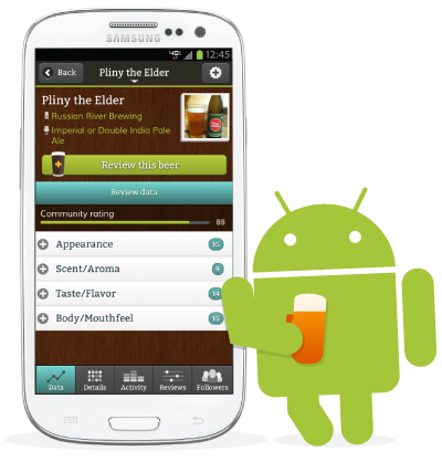 Beer Citizen app for Android! It's here and it's free! We're excited to announce that the Beer Citizen app for Android phones and tablets is now available, for free, on Google Play. Now Android users can take Beer Citizen with them to the pub to review, research, and share beers on the go. You can also add beer, brewery and profile photos to share with other Citizens. The app is compatible with all Android devices running version 2.2 or higher, including a wide variety of phones and tablets. As always, if you don't have an Android or iOS device, you can still use the desktop and mobile web versions of Beer Citizen.