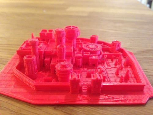 fastcompany:  3-D Printing!  digg:  It only took an hour to print our own model of Winterfell. (Accidentally in Lannister red) If you have access to a 3D printer, here's the file.   I should print this.