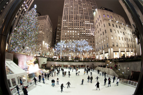 'Rockefeller Ice Rink' -2013, New York.