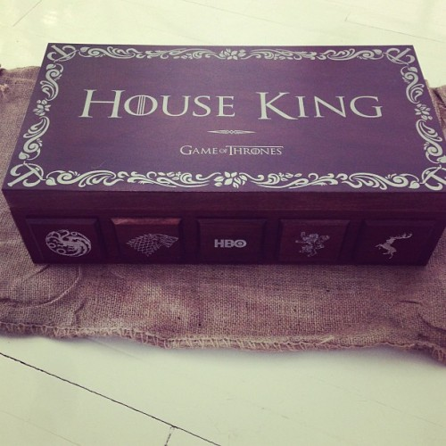 House King. Thank you @hbo @GameofThrones for this insane gift! I am your loyal fan forever! I can't wait for the new season starting 3/31/13
