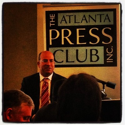 New CNN prez Jeff Zucker speaking to @atlpressclub  (at The Commerce Club)