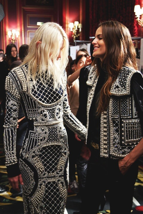 the-romantic-mind:  Backstage / backstage, Balmain F/W 2012-13