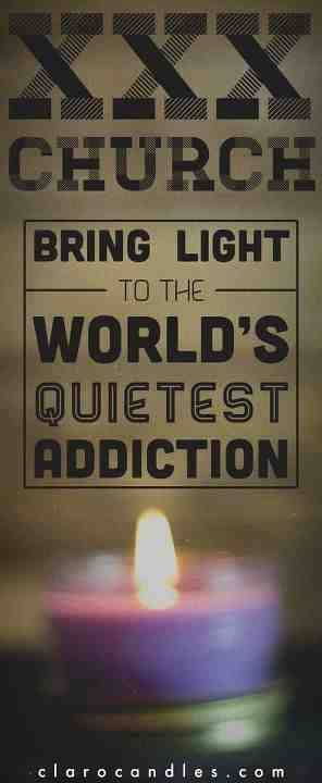 Pornography Awareness.  'Bring light to the world's quietest addiction. 50% of profits support XXX Church's work with people affected by the porn industry.'  Check out www.xxxchurch.com for more info and resources :)