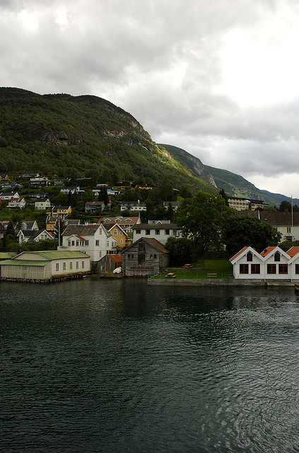bathorynordland:  A Small Town on the Way to Gudvangen by ekasbury on Flickr.