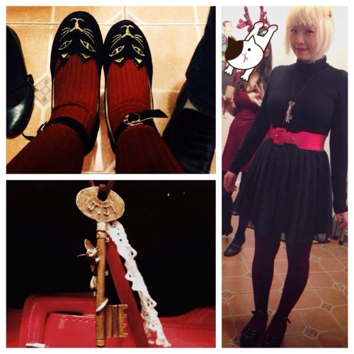 My Kiki's Delivery Service inspired winter outfit! Cat shoes from StoreEnvy, Jiji necklace a present
