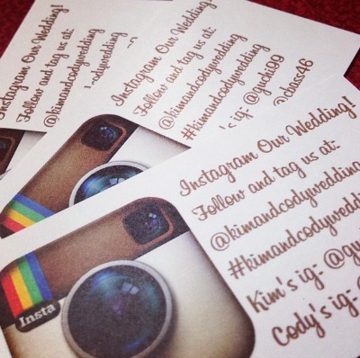 Cute idea - #hashtagyourwedding!