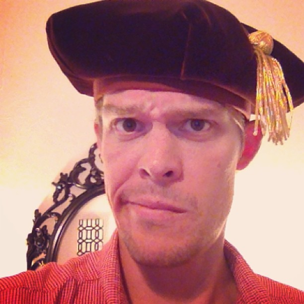 "PhD regalia is weird. ""Hello, I'm Christopher Columbus"""