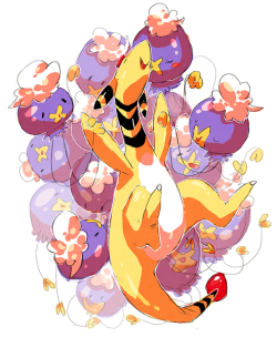 queenofpallet:   drifloon/ampharos by nastyjungle