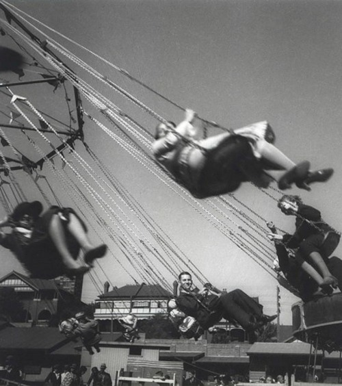 Olive Cotton-Fairground Ride (1930s).