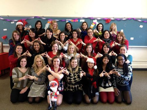 submitted by srat-tastic: Beta Upsilon Senior Re-dedication/Secret Santa/ Ugly Christmas Sweater party! ♥