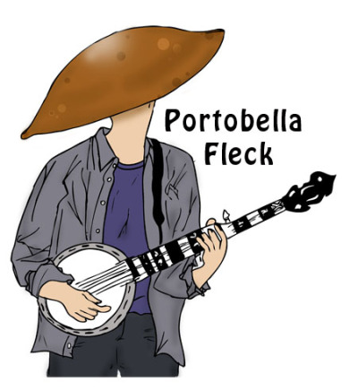 Portobella Fleck and his Veggie Rock friends live and are for sale at  http://society6.com/Pattavina