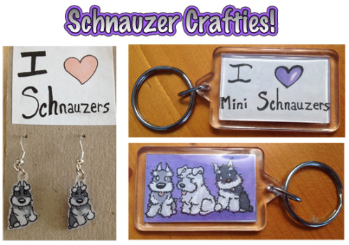 lizzie-art:  Schnauzer StuffShrink Plastic (Earrings) Marker & Ink (Keychain)2012