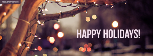 Happy Holidays Facebook Covers