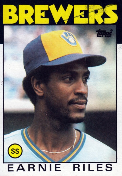 Random Baseball Card #2369: Ernest Riles, shortstop, Milwaukee Brewers, 1986, Topps.