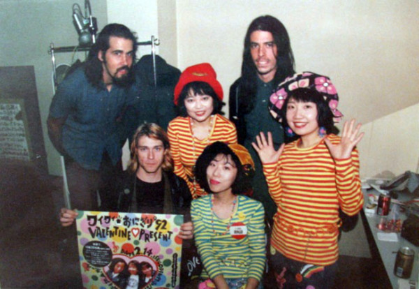 ars-n0va:  Shonen Knife with Nirvana 21 years ago!