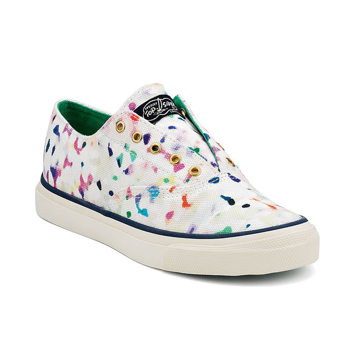 CVO Laceless Sneaker by Milly for Sperry Top-sider in Confetti. Purchase here for $100!