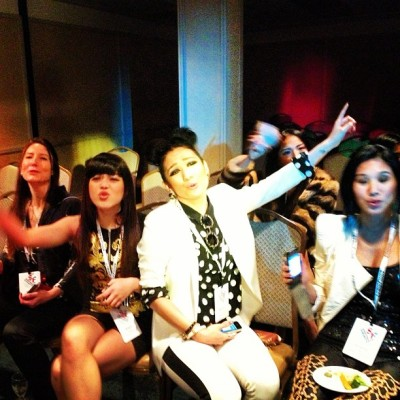 Karaoke groupies @sfmusictech - @karaokeanywhere (at Hotel Kabuki)
