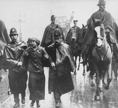 Sylvia Pankhurst, a British militant suffragette, left communist and anti-fascist was arrested 100 years ago for breaking windows in East End of London during a protest.  Sylvia was a member and campaigner of the Women's Social and Political Union (WSPU) and wrote The Suffragette: The History of the Women's Militant Suffrage Movement. She became critical of the WSPU's campaign to legalize voting for educated women of the upper social classes, who felt they were best able to handle the vote, equally with men. Sylvia openly disagreed, and in notable contrast, believed in universal suffrage for men and women of all social classes. In 1914 she broke with the WSPU to set up the East London Federation of Suffragettes (ELFS), which over the years evolved politically and changed its name accordingly, first to Women's Suffrage Federation and then to the Workers' Socialist Federation.