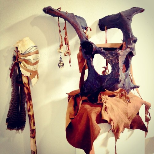 jessihardesty:  One of the first things I made when I started at Cranbrook 2 years ago. #throwbackthursday #art #costume #bone #shaman
