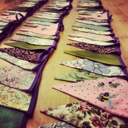 Now that's a lot of bunting! #bunting #homemade #design #weddings #vintage #bespoke #style #creative #bees #floral #bahbua