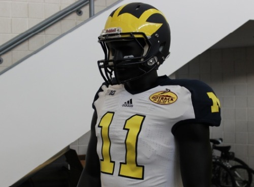 New Michigan Wolverines Outback Bowl uniforms [Photos] For the latest and greatest threads to hit the market, visit Gamedayr Uni Blog.