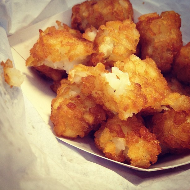 Tots for lunch? (at Gorilla Cheese Truck NYC)