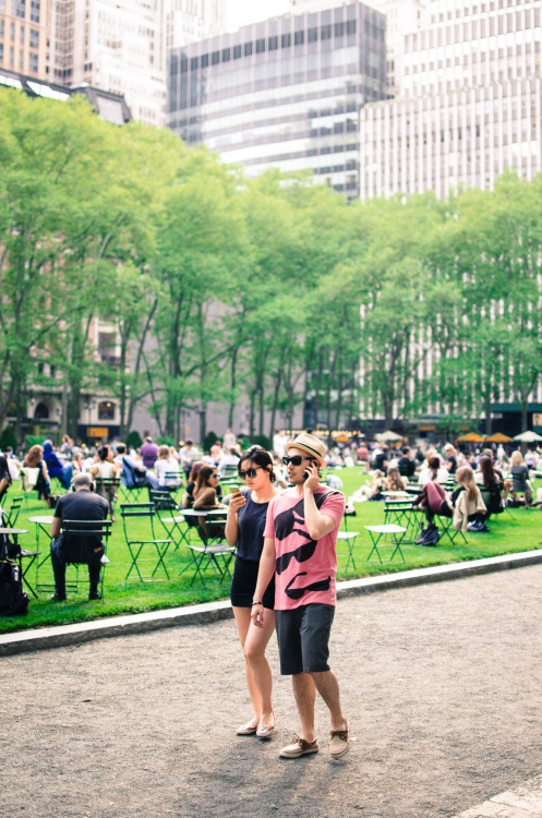 Bryant Park, yesterday.