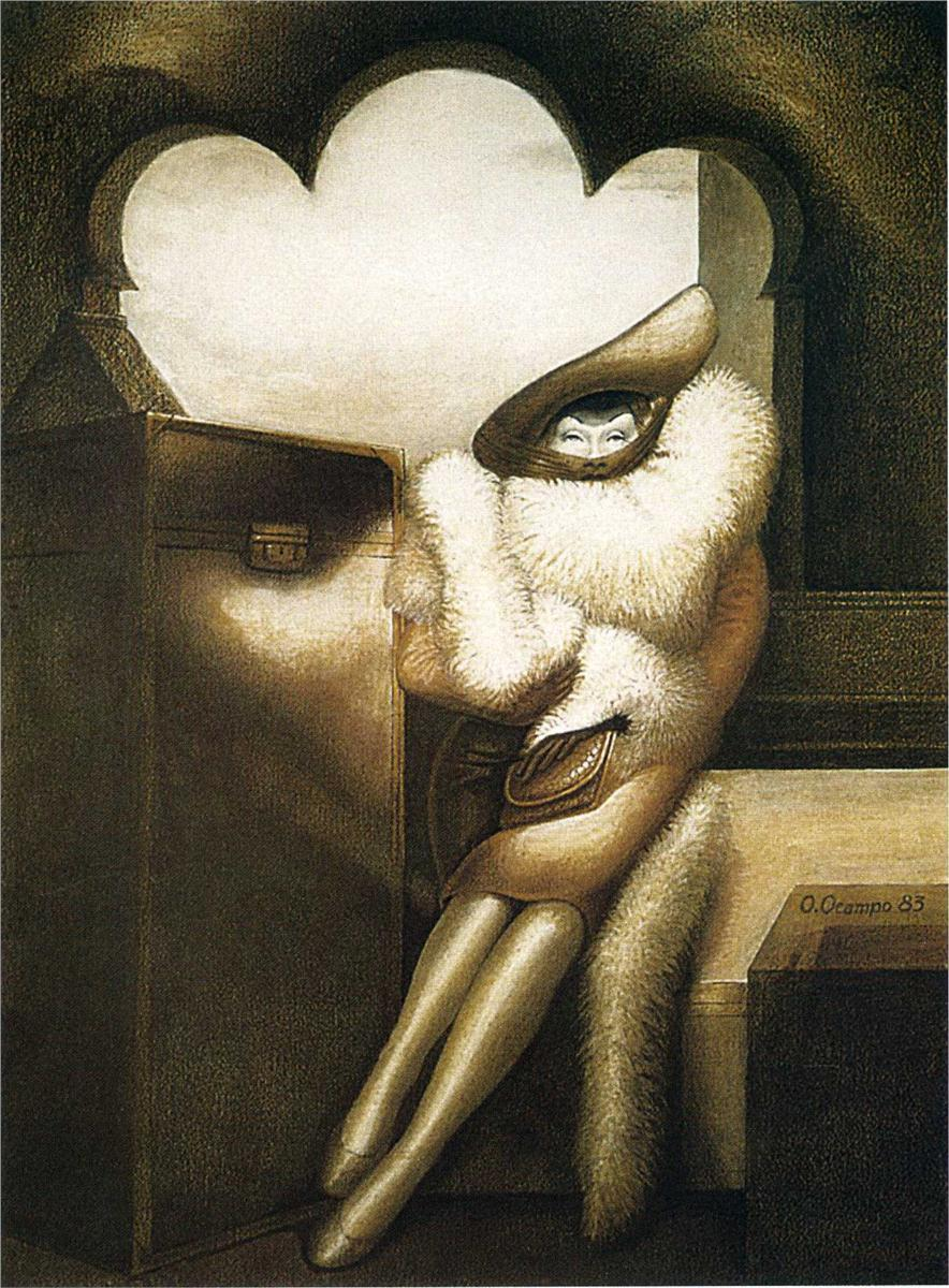 "Octavio Ocampo - ""Marlene"". (1983) Oil on canvas"