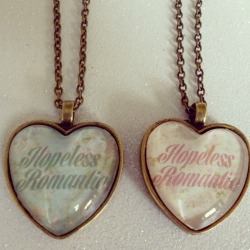 Hopeless Romantic Heart Shaped Cameo Necklaces <3 https://www.etsy.com/shop/CalamityJayneDesigns