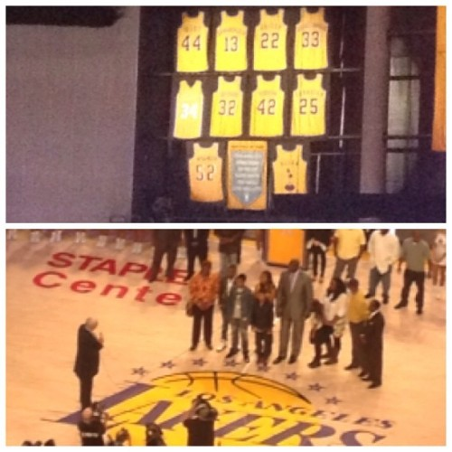 Thank you, Shaq!!!! #lakers #lakeshow #shaq #diesel (at STAPLES Center)
