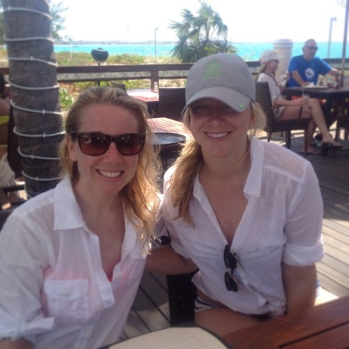 Lunch in paradise #turksandcaicos #sisters  (at The Sands at Grace Bay)