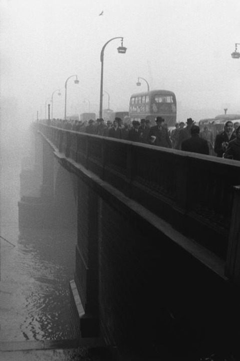 Sergio Larrain England. London, Bridge. 1959
