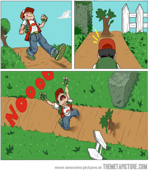 lol-coaster:  funny Pokemon Ash walking treehttp://lol-coaster.tumblr.com