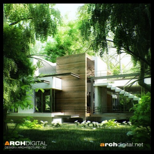 homedesigning:  House In Woods