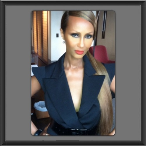 Look of the day: IMAN Red Lipstick #IMANFabFriday  -IMAN Beauty Girl