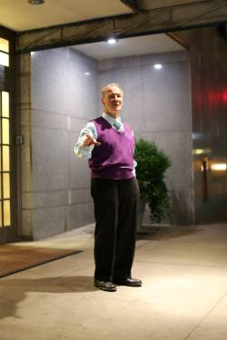 humansofnewyork:  I've passed by this doorman on about ten different occasions, and he's been singing show tunes every single time. I know there's someone out there who lives on E 83rd Street that can back me up on this.