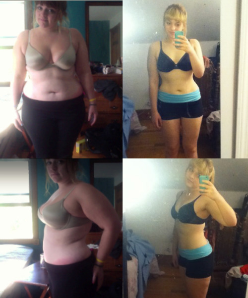 "beforeandafterfatlosspics:  tayloriscool  5'4"" July 2012 (220lbs) - April 2013 (168lbs) Healthy eating/a lot of not healthy eating has helped me learn that I am in complete control of what happens to my body weight. Self control is the key! We all have it in us!"