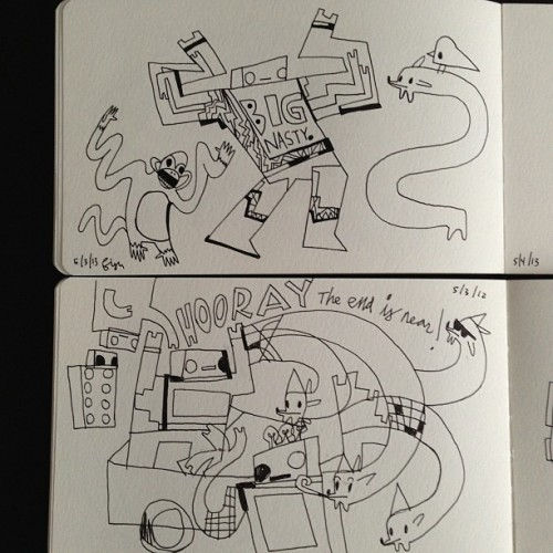 Daily drawing from 5/3/12 & 5/4/13