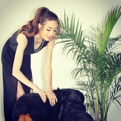They can't get enough love ❤️ 🐶🐶  #MickeysGirl #Fashion #PhotoShoot #Model #Puppies