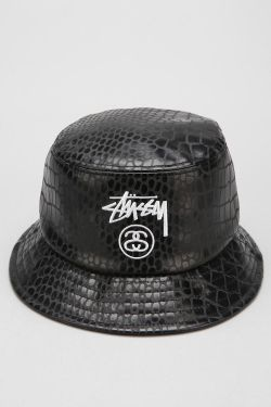 hat fashion style design Leather menswear streetwear urban outfitters stussy bucket hat