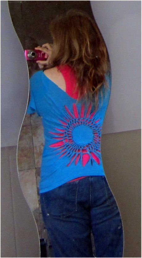 DIY Cut-Out Shirt by foobear on Instructables